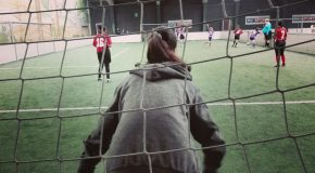 Die Mädchenmannschaft beim Training