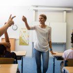Fellow Verena beim Unterricht